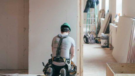 a skilled laborer remodels home